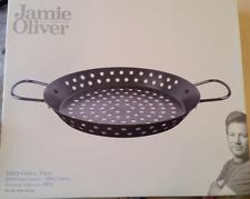 Jamie Oliver BBQ Grillrost Grillpfanne Stahlpfanne Träger 30cm