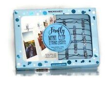 Merkury Innovations- Firefly Mini Clip LED String Lights- Blue Glitter Clips NEW
