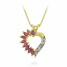 Yellow Gold Plated Ruby Fine Jewellery