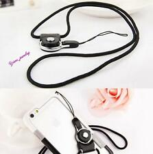 Fashion Black Neck Strap Ring Lanyard For iPhone Samsung Cell Phone ID Card MP3