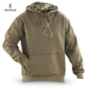 Browning Buckmark Camo Hoodie (S)- Loden/MOINF