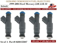 4 pcs Fuel Injectors 2000-2004 Ford Focus 2.0L / 2.3L I4 OEM Bosch #0280155887