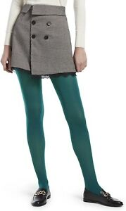 HUE Women's 185210 Opaque Sheer to Waist Tight Spruce Size 1
