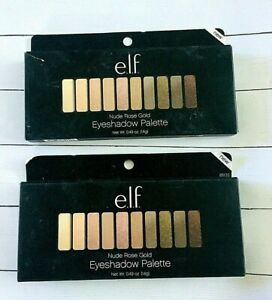 e.l.f. Nude Rose Gold #85133 Eyeshadow Palette- 10 Shades- 2 Pack- NEW