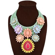 2017 New Fashion Multi-color Weaving Statement Bib Choker Women Necklace