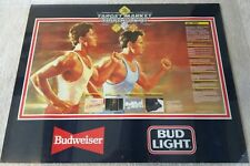 Budweiser Beer / 1987 Target Market Triathlon Running Bicycle Poster Man Cave