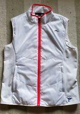 KJUS Women's Vest in White Full Zip Pockets Size 42EU   XL US