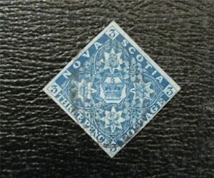 nystamps Canada New Scotia Stamp # 2 Used $245   A9x2126