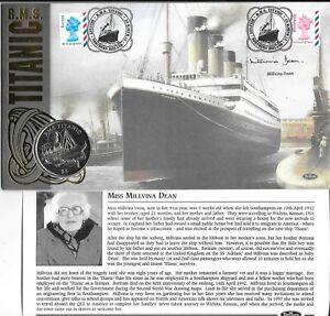 2003 Benham Titanic Coin Cover Signed Millvina Dean