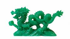 "Jade Color Chinese Feng Shui Dragon Figurine Statue for Luck & Success 6"" Long"