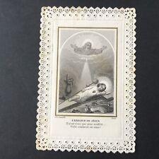 CANIVET Letaille Coeur Sacré de Jésus XIXè HOLY CARD 19C Santino