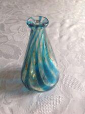 Medina Vase Blue  With Green Trails