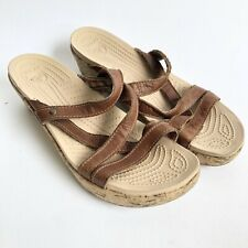 Crocs Leather Straps A-Leigh Mini Wedge - 8