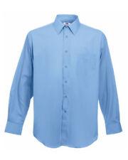 Camisas de vestir de hombre azul de poliéster de color principal azul