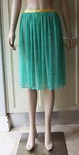 American Apparel Lace Mid-Length Gathered Skirt, Turquoise Lagoon Casual Beach