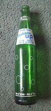 Vintage Bubble Up Sugar Free Green Glass Soda Bottle, 16 Fl Ozs, Half Quart