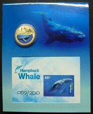 Australische Antarktis AAT 2013 Wale Whale Block 13 plus Münze Auflage 200 RAR