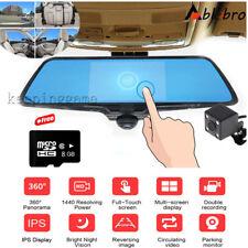 8GB  360° Panoramic HD Car Rear View Cam Parking Mirror Monitor+Reversing Camera