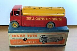 Dinky No 961 A.E.C Shell Chemicals Tanker With Original Box