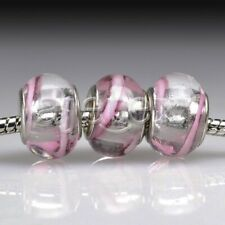 5pcs Murano Glass European Spacer Beads Lampwork Fit Bracelet Chain LB0057 FB