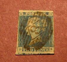 Great Britain Stamp Scott# 2 Queen Victoria 1840 L14