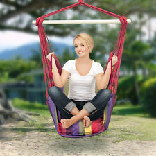 Hanging Rope Hammock Chair Swing Seat for Any Indoor or Outdoor Spaces