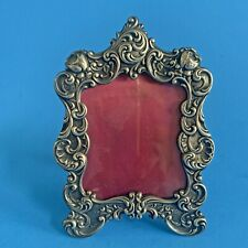 SMALL VINTAGE GORHAM REPOUSSE STERLING SILVER PICTURE FRAME NO. 321