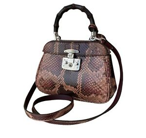 Gucci Python Bamboo Bag Authentic 100%