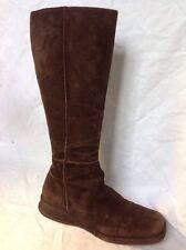 L.K. Bennett Dark Brown Mid Calf Suede Boots Size 38