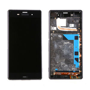For Sony Xperia Z3 D6603 D6643 LCD Screen Touch Digitizer Replacement With Frame