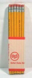 Vintage Pencils USS United States Steel #3 Steel Mill Advertising 12 Pack New