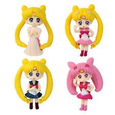 4Pcs/Set Anime Sailor Moon Tsukino Usagi PVC Figures Model Statue Dolls