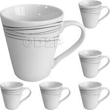 SET OF 6 STRATA DESIGN PORCELAIN LARGE COFFEE TEA SOUP MUGS CUPS GIFT MUG CUP