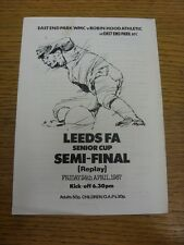 24/04/1987 Leeds Senior CUP SEMIFINALE REPLAY: EAST End Park WMC V Robin Hood a