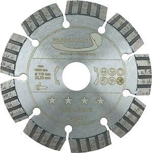 Turbo Diamanttrennscheibe Beton Laser 115 - 600 mm Segment 10 mm Stein Pflaster