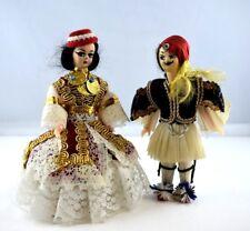 alte Puppen Trachtenpuppen Mann und Frau Pärchen 12 cm