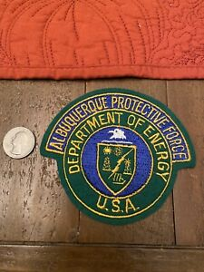 Department Of Energy Albuquerque Protective Force Patch *