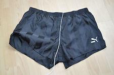Vintage Noir Puma Nylon Sprinter Shorts