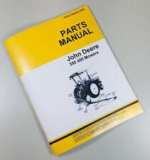 Parts Manual For John Deere 350 450 Sickle Bar Mower Catalog Hay Grass