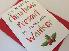 Personalised Christmas Wanker Card: Funny Offensive Rude Adult Humour