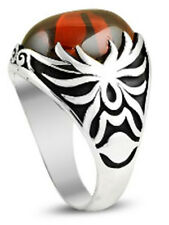 Ring Spinne türkischer Stil Herrenring türkisch Stein rot Gr 19