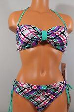 California-Waves-Bikini Multi-Color Striped Sz XL