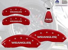 2007-2014 Jeep Wrangler Red Brake Caliper Cover Front Rear INSTOCK + Keychain