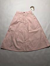 Vtg Cherokee Womens Medium Skirt Pink High Waist Calf Length 80s 90s Deadstock