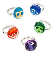Disney Store INSIDE OUT Mood Ring 5pc Set Joy Sadness Anger Fear Disgust NEW