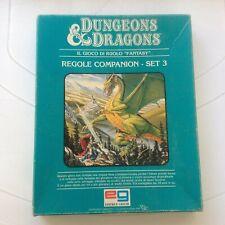 Dungeons & Dragons Regole Companion SET 3 Editrice Giochi.anni 80 Gioco di Ruolo