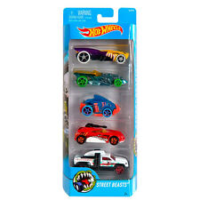 Hot Wheels STREET BEASTS 1:64 Scale Diecast Vehicle 5-Pack Cars (DJD24) Mattel