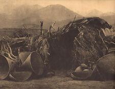 "EDWARD CURTIS Indian Tribe ""A MONO HOME""  Native American Book Print"