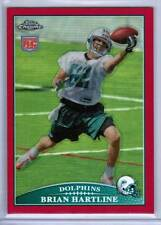2009 Topps Chrome BRIAN HARTLINE (Rookie) RED Refractor /25