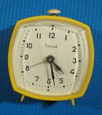 "Vintage Russian mechanical Desk shelf mantel alarm Clock ""Vityaz"" Soviet USSR 1"